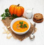 Pumpkin soup Royalty Free Stock Photography