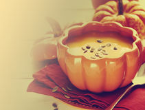 Pumpkin soup. Royalty Free Stock Photography
