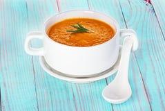 Pumpkin soup in a bowl Stock Photos
