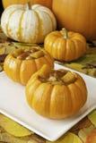 Pumpkin Soup Bowls Royalty Free Stock Photos