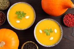 Pumpkin soup. stock photography
