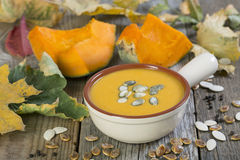 Pumpkin soup. Royalty Free Stock Image
