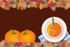 Pumpkin soup concept vector ready for your text Stock Photos