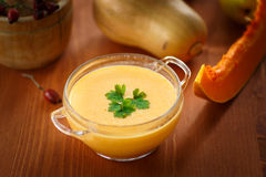 Pumpkin soup Stock Photos