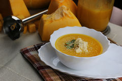 Pumpkin soup cooking Stock Photography