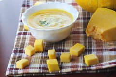 Pumpkin soup cooking Royalty Free Stock Photo
