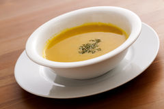 Pumpkin Soup. On a desk Stock Photo