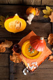 Pumpkin soup Royalty Free Stock Images