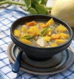 Pumpkin soup in the garden Stock Photography