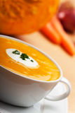 Pumpkin soup i Royalty Free Stock Photos