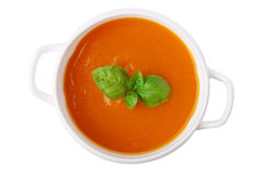 Pumpkin soup isolated Stock Photos