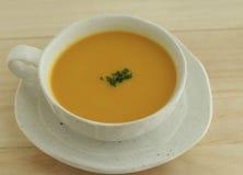 Pumpkin soup. Made of Japanese soup stock, kelp Stock Image