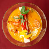 Pumpkin soup in martini glass Stock Photos