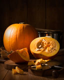 Pumpkin Soup Preparation Stock Image