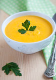 Pumpkin soup puree Royalty Free Stock Image