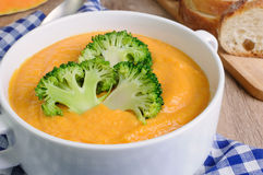 Pumpkin soup puree Royalty Free Stock Photography