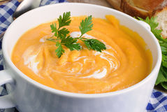 Pumpkin soup puree Stock Photography