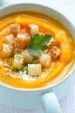 Pumpkin soup puree Stock Photos