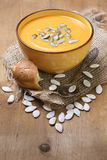 Pumpkin soup - puree Royalty Free Stock Image