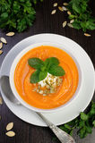 Pumpkin soup puree Stock Photography