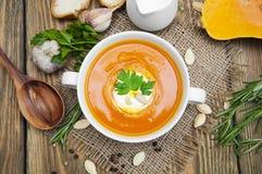 Pumpkin soup Royalty Free Stock Photo