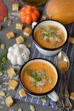 Pumpkin soup puree Royalty Free Stock Photos