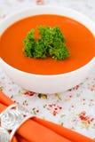 Pumpkin soup. Royalty Free Stock Photography