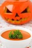 Pumpkin soup. royalty free stock photos