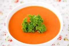 Pumpkin soup. Royalty Free Stock Images
