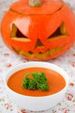 Pumpkin soup. stock photos