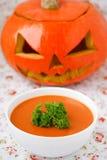Pumpkin soup. Stock Photos