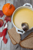Pumpkin soup set Royalty Free Stock Image
