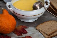 Pumpkin soup set Royalty Free Stock Photography
