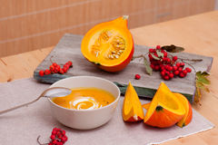 Pumpkin Soup Still Life Royalty Free Stock Photos