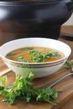 Pumpkin soup. Thai pumpkin & red lentil soup Stock Image