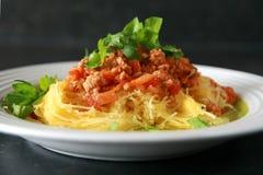 Pumpkin spaghetti Stock Photo