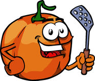 Pumpkin with a spatula Stock Photo