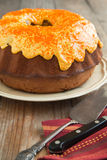 Pumpkin Spice Bundt Cake with cream cheese frosting Royalty Free Stock Photo