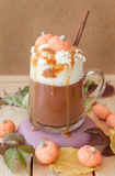 Pumpkin spice Caffe latte royalty free stock photos
