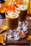 Pumpkin Spice Coffee Stock Photo