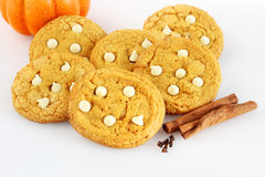 Pumpkin spice cookies Royalty Free Stock Images