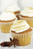 Pumpkin Spice Cupcakes Royalty Free Stock Photos