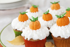 Pumpkin spice cupcakes Royalty Free Stock Image
