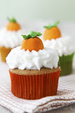 Pumpkin spice cupcakes Stock Photo