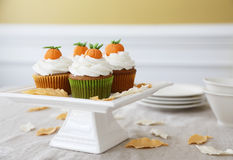 Pumpkin spice cupcakes Royalty Free Stock Photo