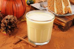 Pumpkin spice egg nog Royalty Free Stock Images
