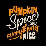 Pumpkin Spice and Everything Nice. Hand drawn vector illustration. Autumn color poster. Good for scrap booking, posters, greeting cards, banners, textiles vector illustration