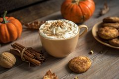 Free Pumpkin Spice Latte Stock Photography - 126285132