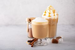 Pumpkin spice latte stock photography