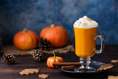 Pumpkin spice latte, smoothie, Boozy cocktail Stock Photography